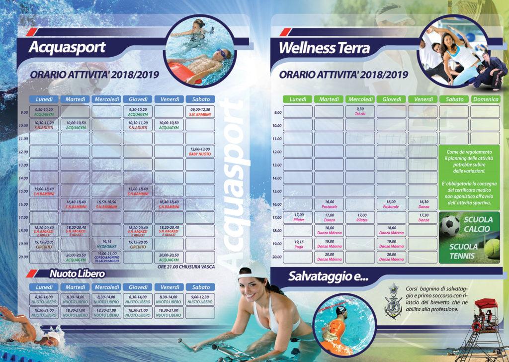 orari attività sportive centro sportivo Elcatime